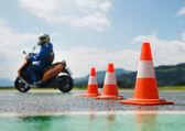 Motorcycle training school — Stock Photo
