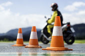 Motorcycle training school — Stockfoto