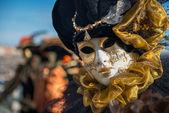 Golden Venetian Carnival Mask — Stock Photo