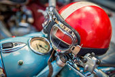 Vintage Motorcycle helmet — Stock Photo