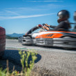 Go kart racing — Stock Photo