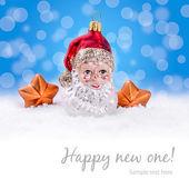 Weihnachten hintergrund - weihnachtsmann — Stockfoto