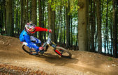 Downhill bike ride — Stock Photo