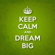 Keep Calm and Dream Big — Stock Vector #38562377