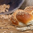 Bun bread & Wheat — Stockfoto