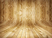 Old curved wooden background — Stockfoto