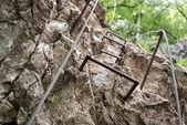 Climbing mountain path — Stock Photo