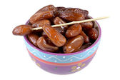 Candied dates palm fruit. — Stock Photo