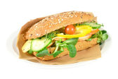 Waldkorn sandwich with smoked chicken. — Stock Photo