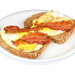 Fried eggs with Bacon. — Stock Photo #21829205