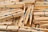 Wooden clothespins. — Stock fotografie