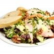 Salad with chicken strips. — Stock Photo