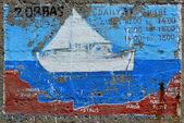 Pintura de pared vieja. — Foto de Stock