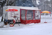 Snack bar in the snow. — Stock Photo