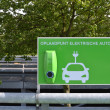 Charging station for electric cars. — Stock Photo