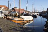 Boat yard for fishing boats. — Foto Stock