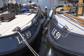 NETHERLANDS - SAILING SHIPS - CIRCA MAY 2014: Luxury yachts are docked at the port of Lemmer. — Stock Photo