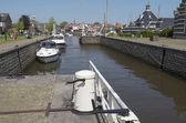 Lemster lock in the port of Lemmer in Friesland. — Stock Photo