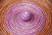 Braided lid of a wicker basket. — Stock Photo