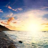 Sea sunset — Stockfoto