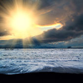 Sea sundown — Stock Photo