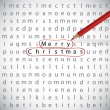 Christmas crossword — Stock Vector