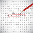 Stock Vector: Christmas crossword