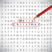Christmas crossword — Stok Vektör