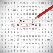 Kerstmis kruiswoordraadsel — Stockvector