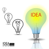Idea bulb — Stock Vector