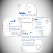 Daily schedule — Stock Vector