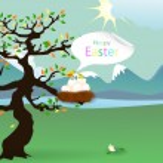 Happy Easter. bird's nest — Stock Vector