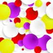 Stock Vector: Abstract bubble background