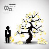 Tree of money — Stock Vector