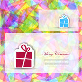 Abstract Christmas card — Stock vektor