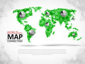 World map connection  — Vector de stock