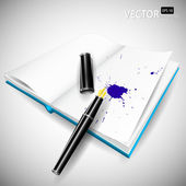 Fountain pen — Stock Vector