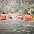 Kayaks in Bay of Kotor — Foto de stock #23224736