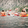 Kayaks in the Bay of Kotor — Stock Photo #23224736