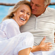 Happy mature couple outdoors — Stock Photo #24390377