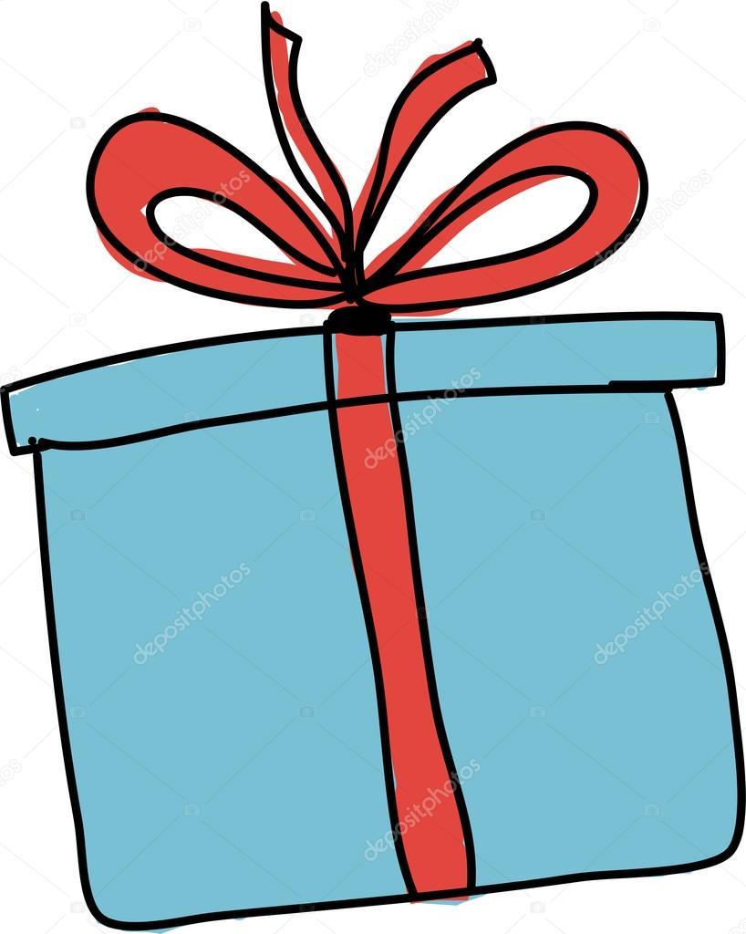 Как нарисовать объёмный подарок 78