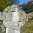 Old stone cross - Stock Photo