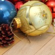 Bunch of christmas decorations — Stockfoto