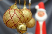 Gold christmas globes — Stock Photo