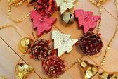 Christmas tree shaped candles — Stock Photo