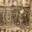 Year carved in salt — Stock Photo #14348331