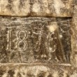 Stock Photo: Year carved in salt