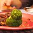 Broccoli and beef — Stock Photo