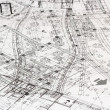 Messy architectural plan — Stock Photo
