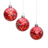Three isolated christmas balls — Stock Photo